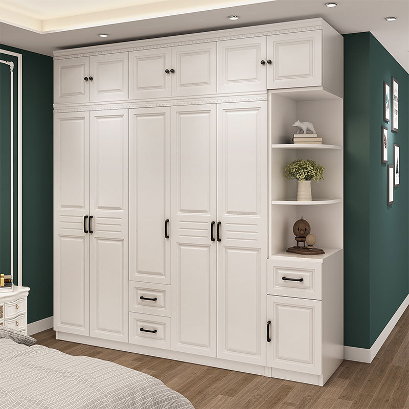 Wooden Storage Free Shipping Installation Integral Wooden Furniture For Bedroom Storage Six Door Plate Assembly Wardrobe Wardrobes Aliexpress