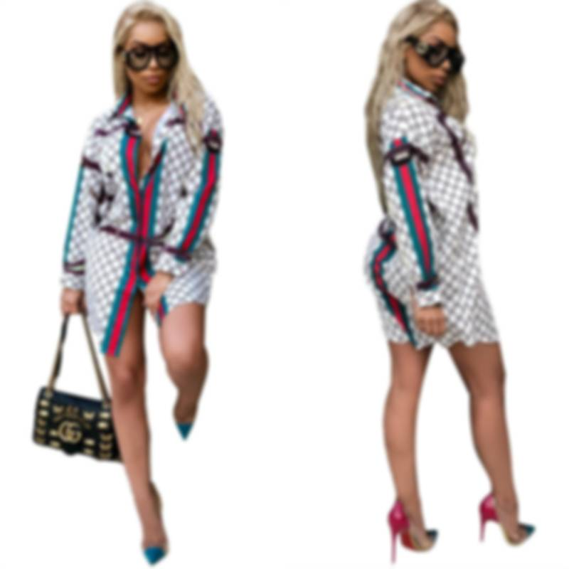 2020 New African Women's Dress Dashiki Super Large Fashion Printed Long Sleeve Shirt with Lapel Lady African Dresses for Women(China)