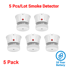 CPVan 5pcs/Lot Smoke Detector Rookmelder 10 yr Smoke Security Fire Protection Alarm Sensor For Home Security Alarm System