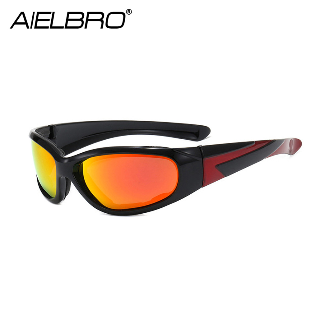 AIELBRO Professional Polarized Cycling Glasses Bike Goggles Sports MTB Bicycle Sunglasses Hiking Running Camping Eyewear UV 400
