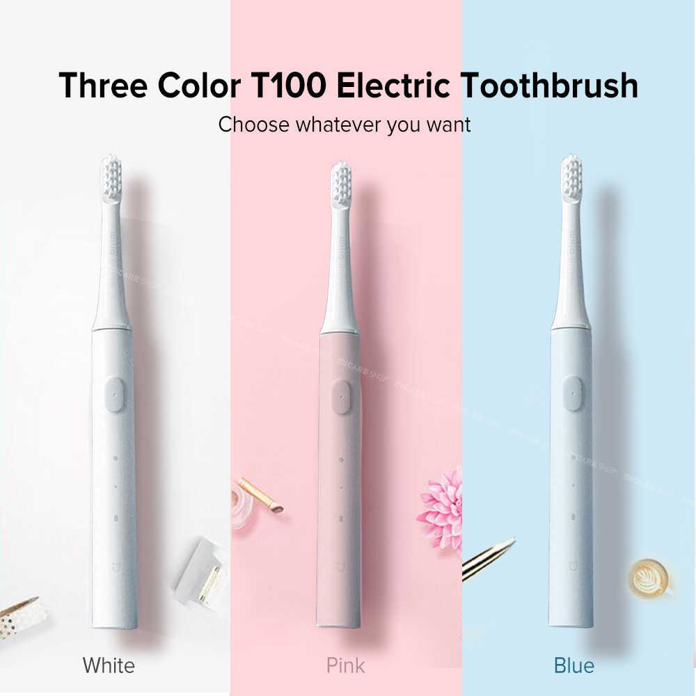 Mijia T100 elektryczna soniczna szczoteczka do zębów dla dorosłych Ultra sonic automatyczna szczoteczka do zębów USB akumulator wodoodporna szczotka do zębów dla Xiaomi