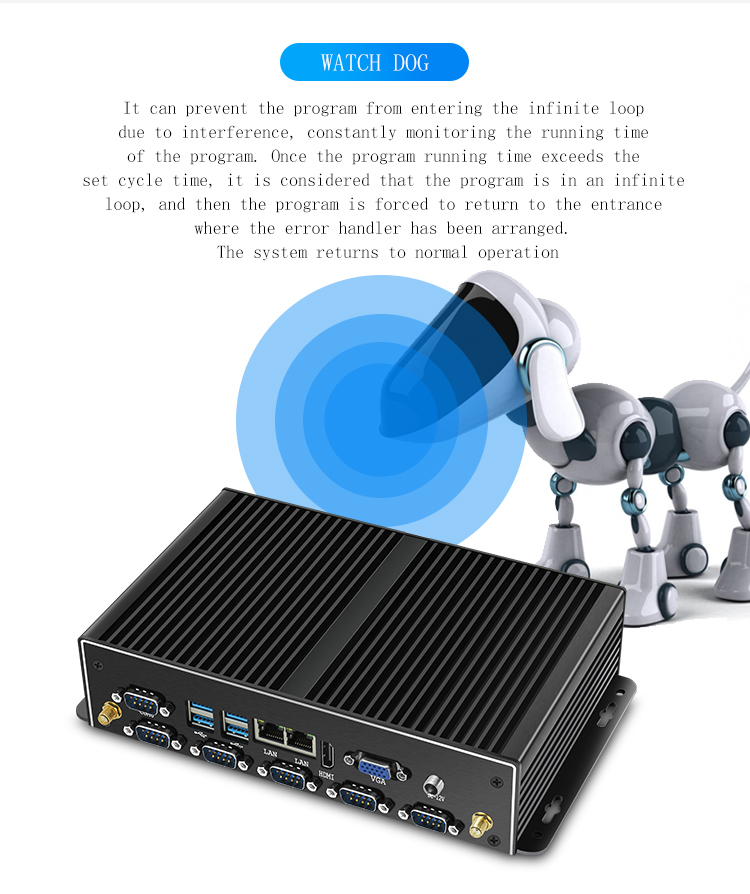 2019 Latest Desktop Computers <font><b>Intel</b></font> <font><b>Core</b></font> i5 7200u Dual Lan Fanless Mini PC For Windows 10 image