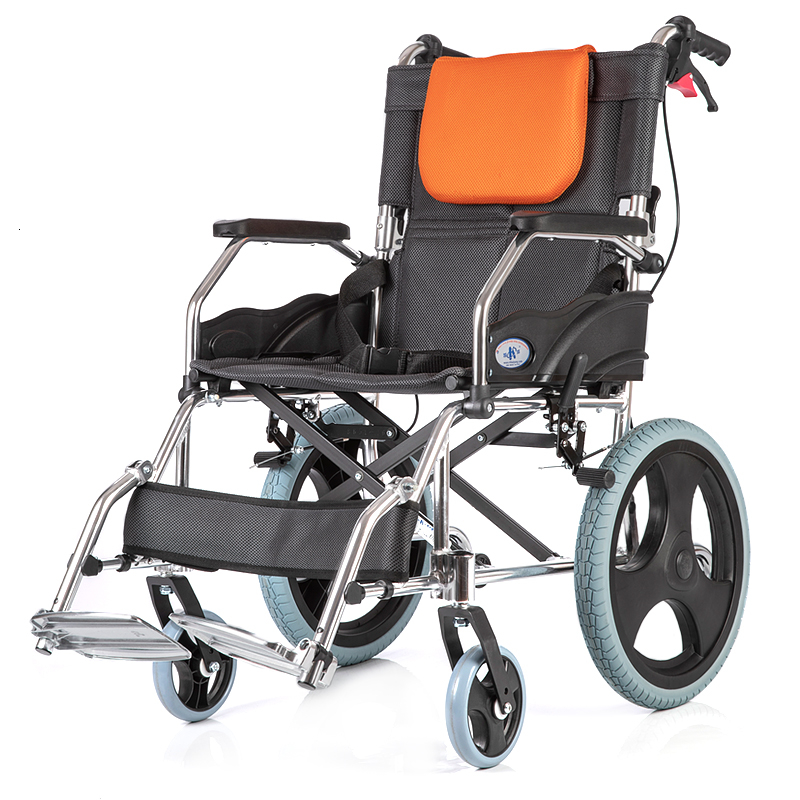 Kaiyang Ky863 Wheelchair The Elderly Fold Light Small Portable Disabled Round Aluminium Alloy Manual Wheelchair Walk Instead