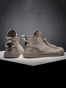 Casual-Shoes Sneaker Khaki Anti-Slippery Male for Men Outdoor-Sport Light-Weight High-Top