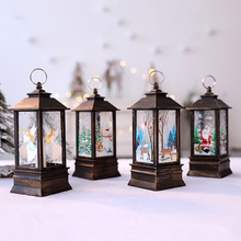 Christmas Candlestick Lantern Light Candle Holder Lamp Bulb Home Party Decor Tree Small Ornaments Mall Window Bar Party Supplies retro iron candlestick lantern tea light holder home shop ornaments