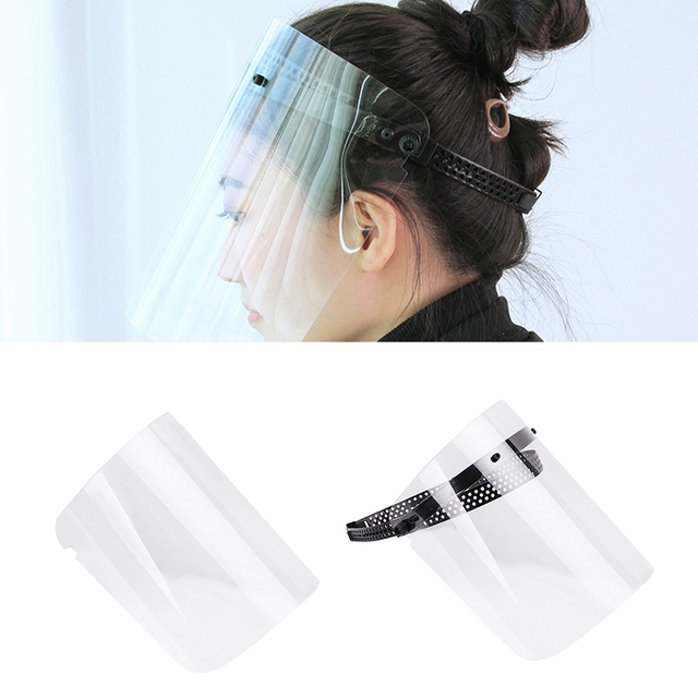 Safety Full Face Shield Clear Visor Dustproof Anti-saliva Guard Eyes Protection Transparent Mask Sheet Or  Full Face Shield 5