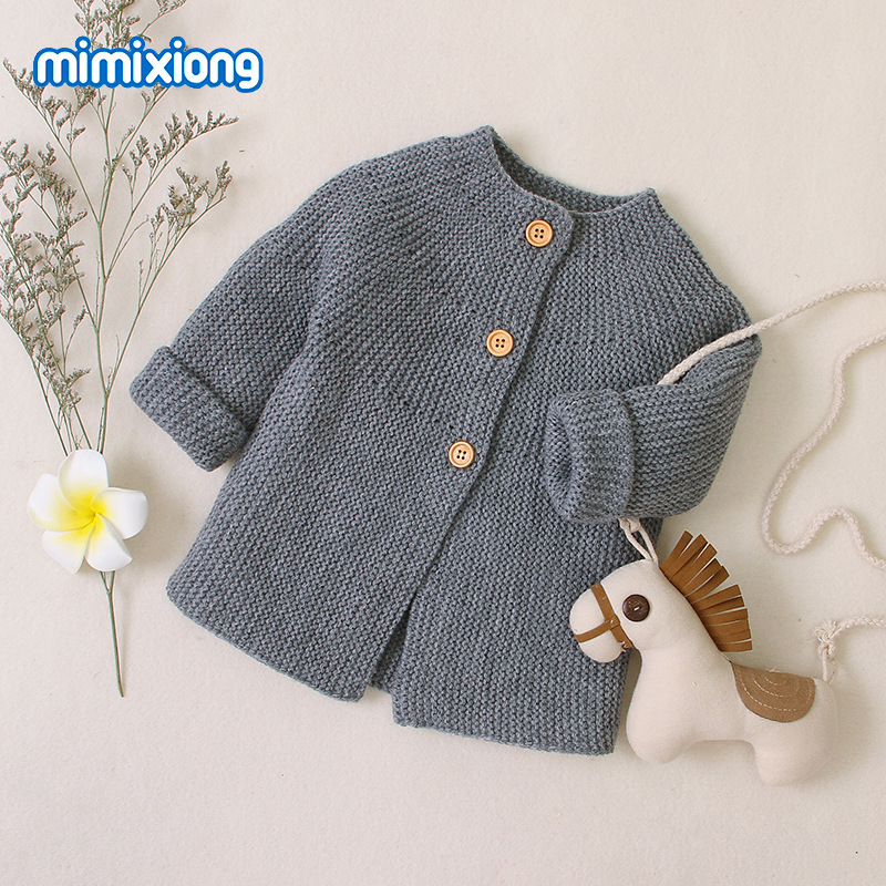 Autumn Winter Cotton Sweater Top Baby Children's Clothing Boys Girls Knitted Cardigan Sweater Kids Spring Wear New