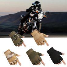 Guantes Protectores de medio dedo para motocicleta para hombre, guantes duros para Motocross, para carreras, ciclismo