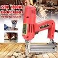 Cadrage agrafeuse agrafes électriques pour pistolet clous 220V 1800W outils électriques pour le travail du bois outil à main
