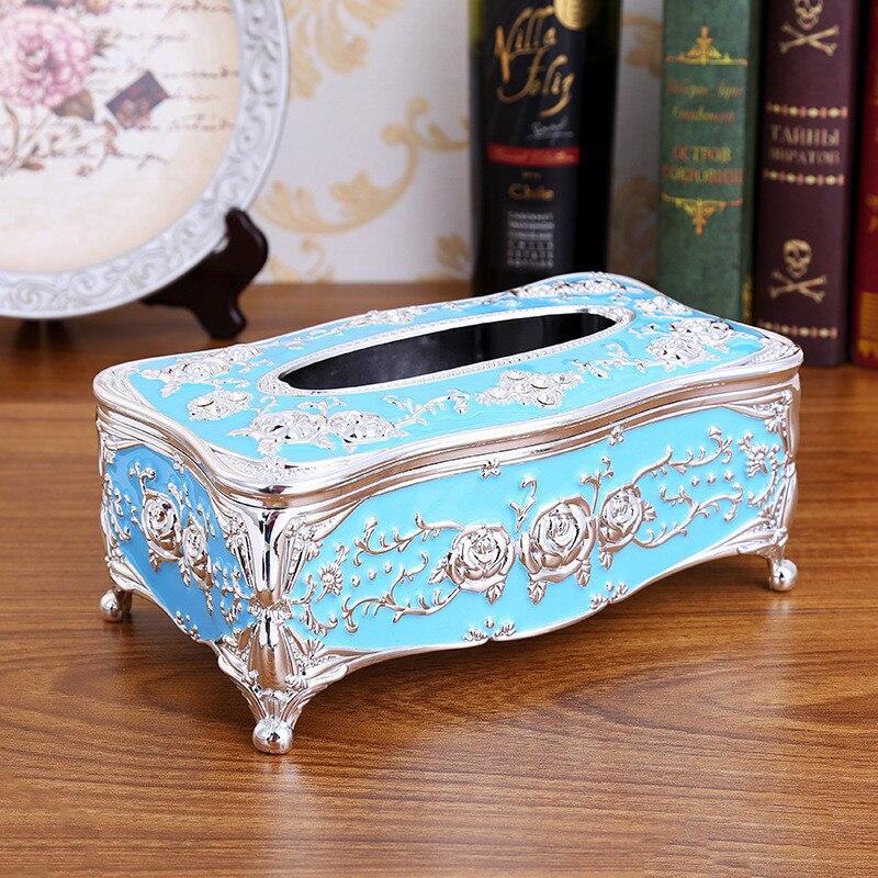 Кухонные держатели для салфеток, классическая коробка для салфеток, контейнер из акрила для ванной, кухонный инструмент, аксессуары для украшения дома - Цвет: blue