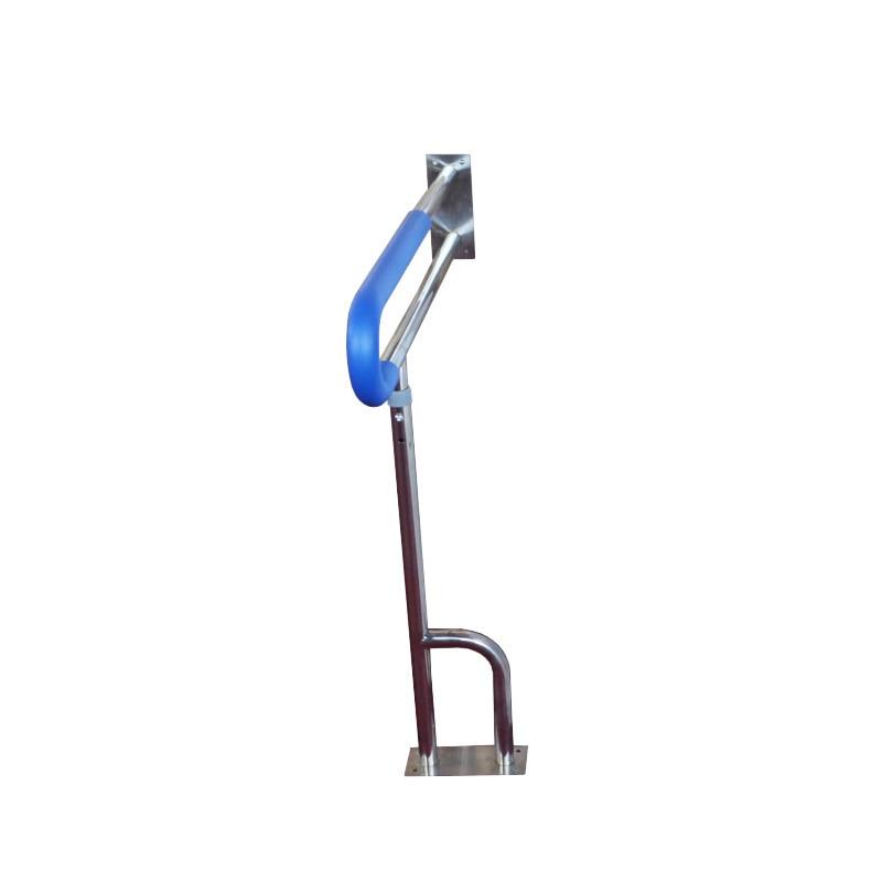 Медицинский Профессиональный Туалет скольжения один поручень вес 100 кг нержавеющая сталь для беременных женщин пожилых инвалидов - Цвет: 1pc Blue
