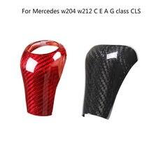 Para un Mercedes Benz C E G GLK CLS clase W169 W203 W204 W211 W212 W463 X204 W219 W218 perilla de palanca de cambios de coche recorte cubierta accesorios
