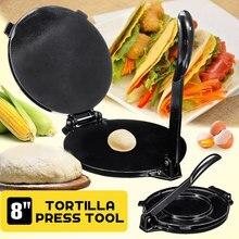 Prensa de Tortilla plegable de 8 pulgadas, herramienta de aluminio para hornear harina de maíz, herramientas para Tartas, máquina de prensado, accesorios de cocina