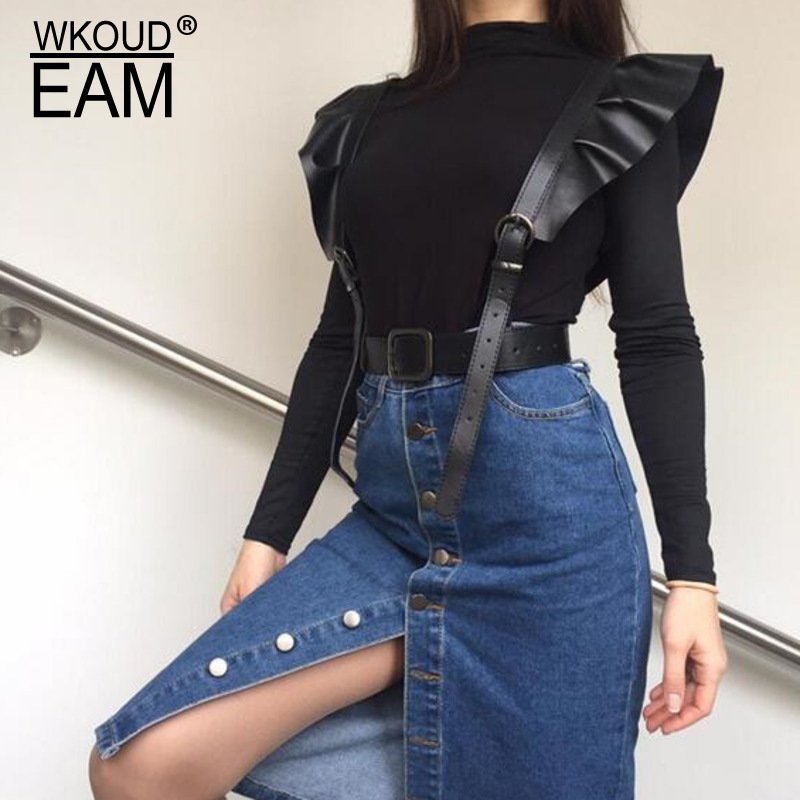 2020 New Design Fashion Corset Belt Solid Trendy Flounced Leather Wide Belts For Women Female All-match Stylish Waistband ZK816