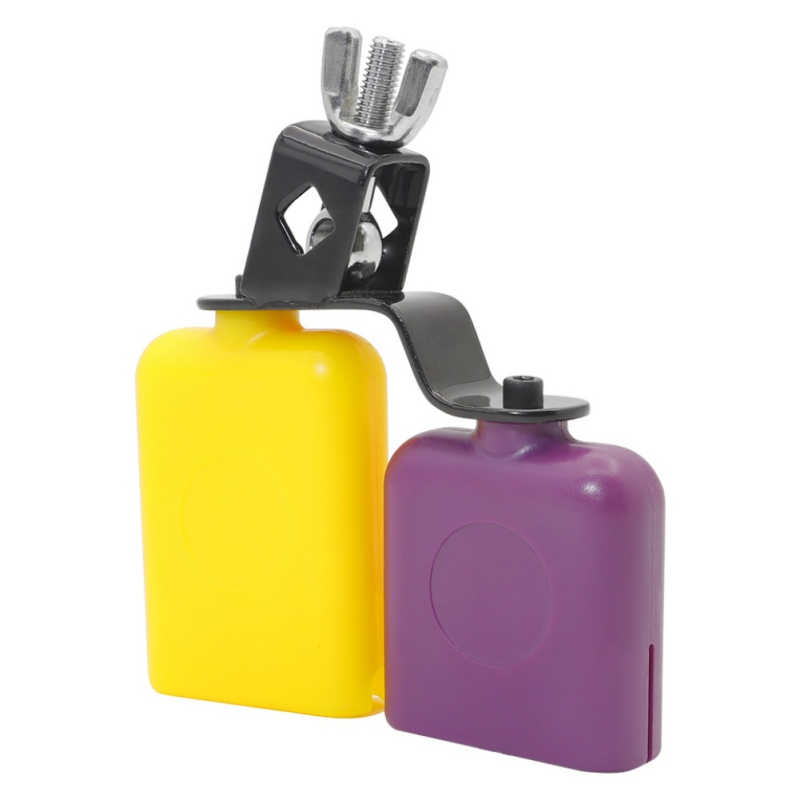 Hot Orange & Purple Plastic Latin Percussion Drum Cow Bell Sports Games Cheers Wedding Cow Bell Drums Percussion Instruments
