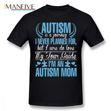 Autism T Shirt Is Journey I Never Planned For But Sure Do Love My Tour Guide M An Mom T-Shirt Basic Tee