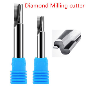 Image 2 - Diamond cnc milling cutter acrylic sheet PCD stone machine tools Carbide Shank lathe end for milling PVC graphite Marble