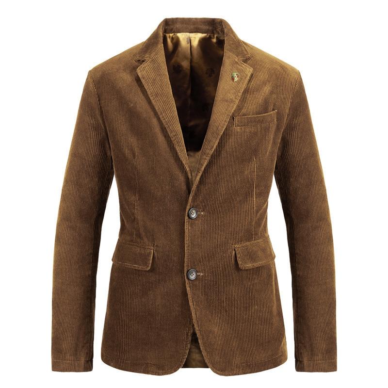 Spring Autumn Blazer Mens Blazer Jacket Pure Cotton Solid Vintage Casual Blazers Jacket Men Blazer Hombre Plus Size M-4XL