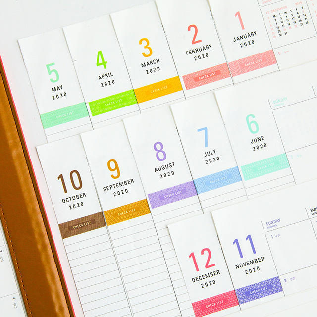 2020 Year Creative PU Desktop Calendar A4 Office Desk Mat Table  Calendar Daily Schedule Planner 2019.08~2020.12 3