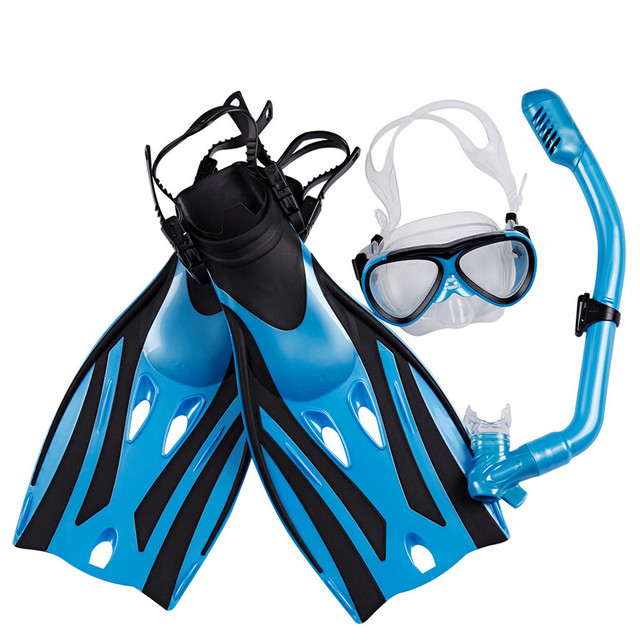Diving Equipment Set Mask Fin Snorkel Set Panoramic View Diving Mask Diving Fin Diving Snorkel Swimming Spearfishing Dive Men J8 2