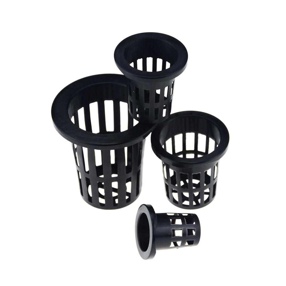 50Pcs Black Hydroponic Colonization Mesh Pot Net Cup Basket Hydroponic Planting Grow Clone Nursery Plant Soilless