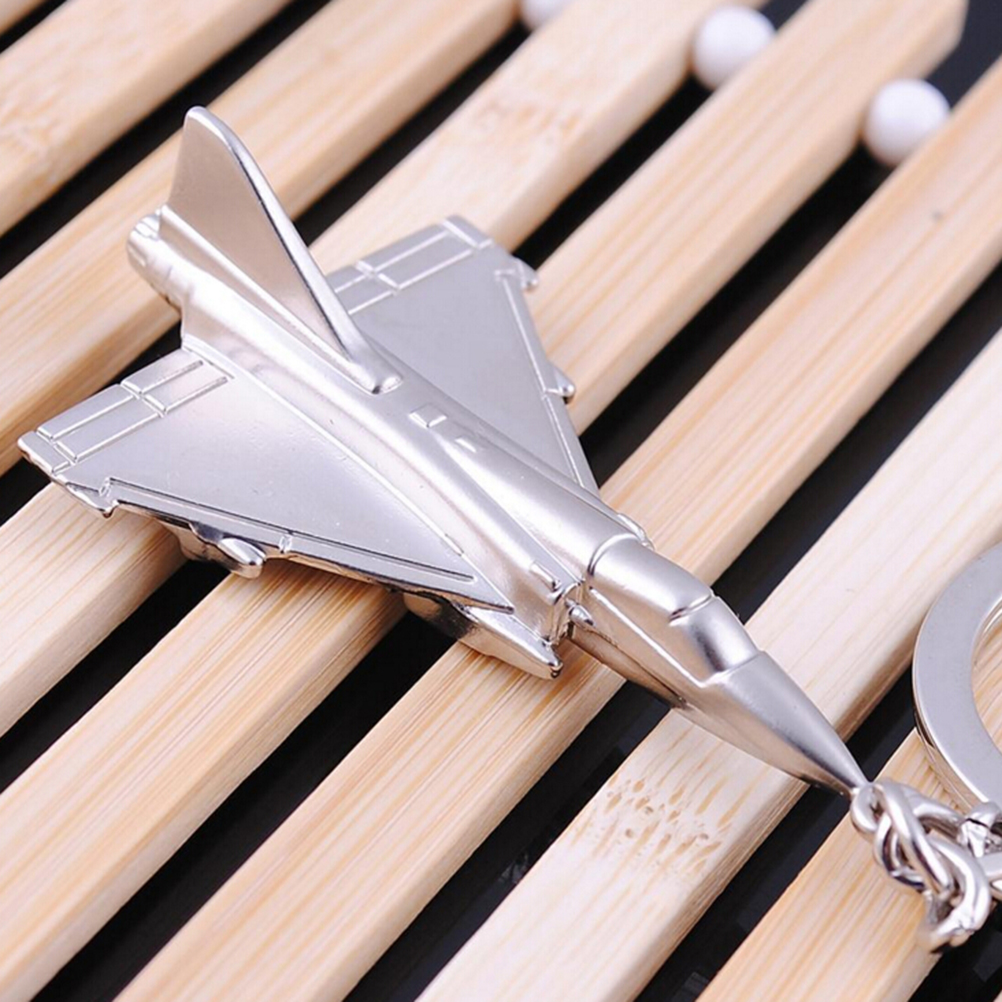 1 PC Aircraft Airplane Model Keyrings Airplane Keychain Key Chain Cool Boy Men's Gift image