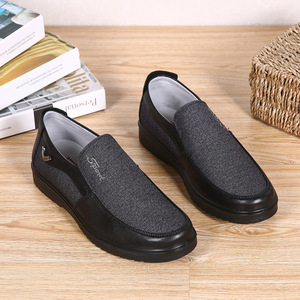 Image 5 - 2020 Autumn Mens Casual Shoes Comfortable Breathable Slip on Flat Canvas Loafers Shoes Men Soft Driving Shoes Oversized Size 50