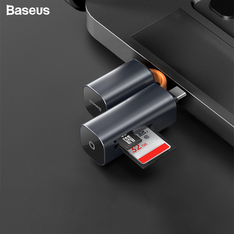 Baseus Card Reader Type C USB 3.0 To SD TF Micro SD Adapter For PC Laptop Accessories OTG Cardreader Phone Mini SD Card Reader
