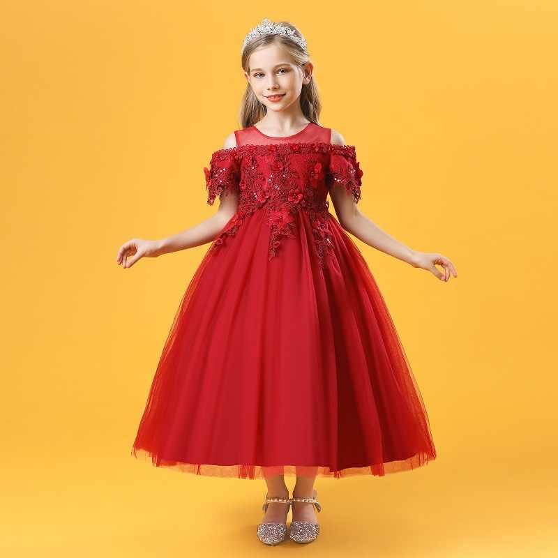Blume Madchen Kleid Kinder Hochzeit Bridemaid Kleider Kinder Prinzessin Abendkleid Teenager Madchen Leistung Boutique Kleidung Aliexpress