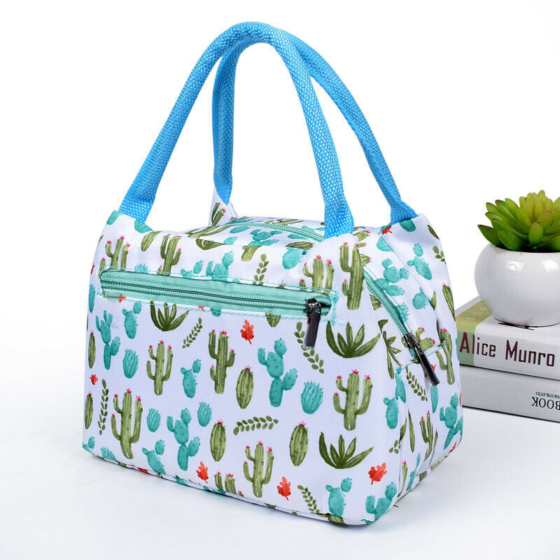 Childrens Kids Adult Printed Lunch Bags Picnic Insulated Bags School Lunch Box