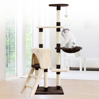 Luxury Cat Climbing Frame Cats Furniture Scratchers Tree For Pet Playing Scratch Furniture Pet Cat Tree House With Hanging Ball
