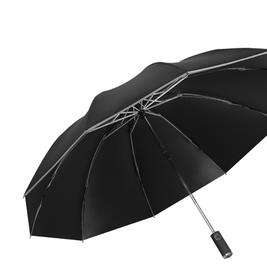 Double Layer Inverted Inverted Umbrella Is Light And Sturdy Picture Marine Life Reverse Umbrella And Windproof Umbrella Edge Night Reflection