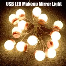 USB LED Makeup Mirror Light Bulb Hollywood Vanity Lights Stepless Dimmable Lamp 2 6 10 14 Bulbs Bathroom Vanity Mirror Bulb cheap YANKE CN(Origin) Switch CCC CQC EMC FCC LVD 2pcs 6pcs 10pcs 14pcs Nature White 8W 12W 16W 20W USB Plug 3M-Tape suction cup