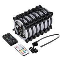 Computer PC Case Fan RGB Adjust LED Fan Quiet Remote Computer Cooler Cooling RGB Case Fans (7PCS+1 Controller)