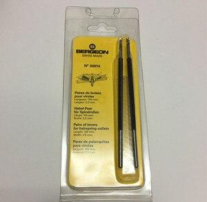 Image 2 - Bergeon 30014 pares de palancas para hairspring Pinzas pares de palancas para virolas herramientas para relojes