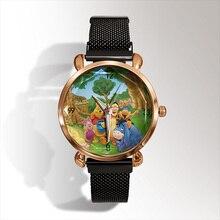 цены Luxury Brand Fashion 3D Cartoon Bear Quartz Watch Ladies Casual Dress Watch Children Watch reloj mujer Women Watch kadin izle