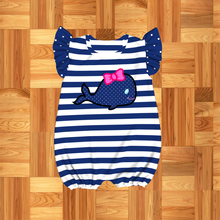 Newborn Baby Clothes Girl Boy Girls Jumpsuit Toddler Boys Outfits Blue whale Boy