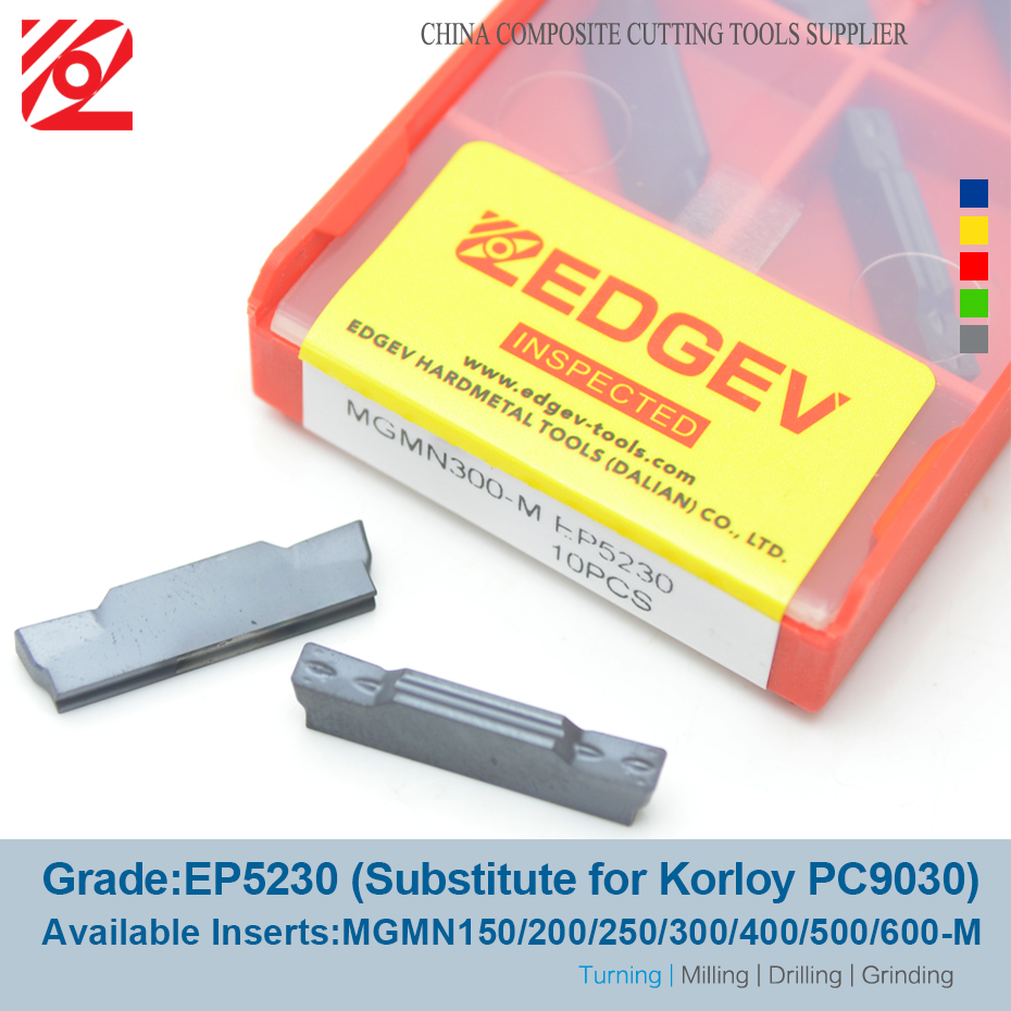 Image 2 - EDGEV 10PCS Grooving Carbide Insert MGMN150 MGMN200 MGMN 250 MGMN 300 MGMN 400 MGMN 500 MGMN600 CNC Turning Tools NC3020 PC9030-in Turning Tool from Tools