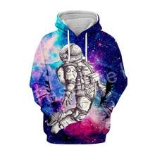 Tessffel Galaxy Space Astronaut Tracksuit casual Harajuku 3D Printed Hoodie/Sweatshirt/Jacket/shirts Mens Womens hiphop style-3