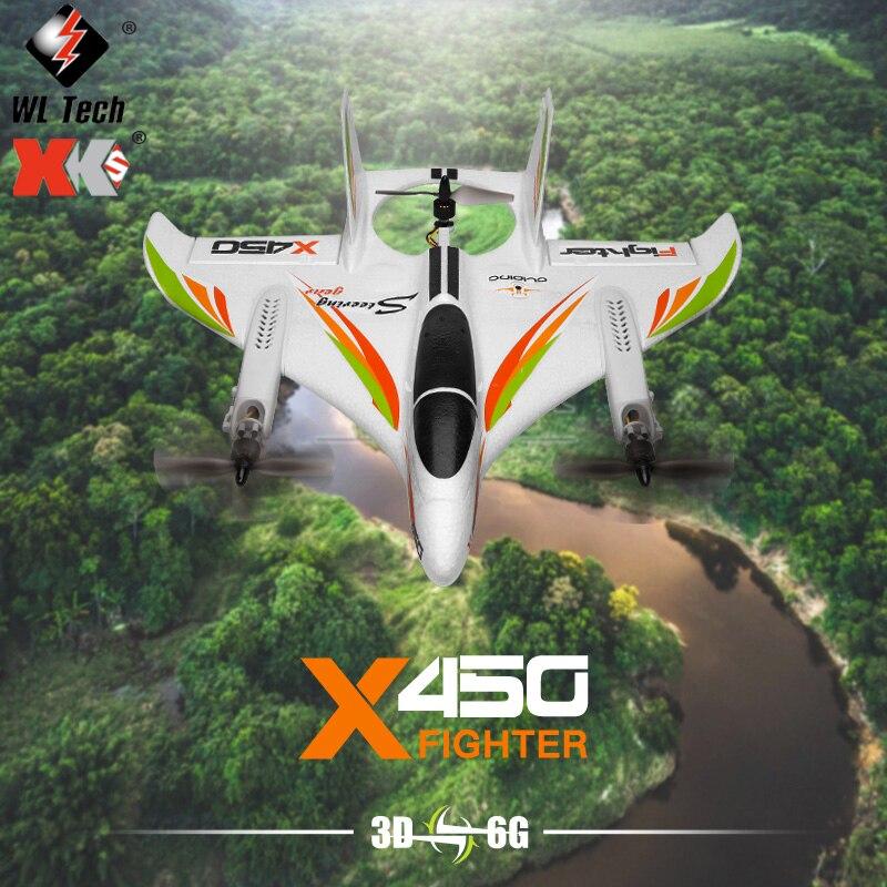 Wltoys XK X450 радиоуправляемый самолет 2,4G с дистанционным управлением бесщеточный трюковый самолет вертикальный взлет и посадка планер радиоуп...