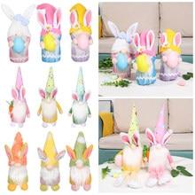 Paskalya Gnome peluş tavşan cüceler kız tavşan Tomte İskandinav İsveç Nisse İskandinav Tomte Elf cüce ev dekor hediyeler