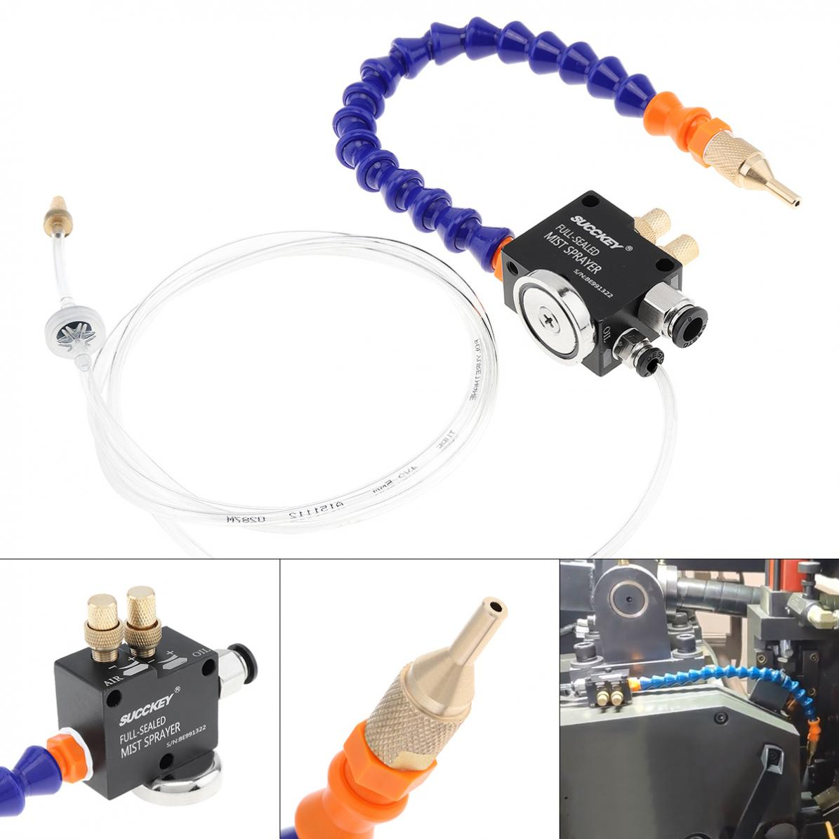 30cm Mist Coolant Lubrication Spray System With Adsorbable Magnetic Base And Fully Sealed Plastic Metal Cutting Cooling Machine