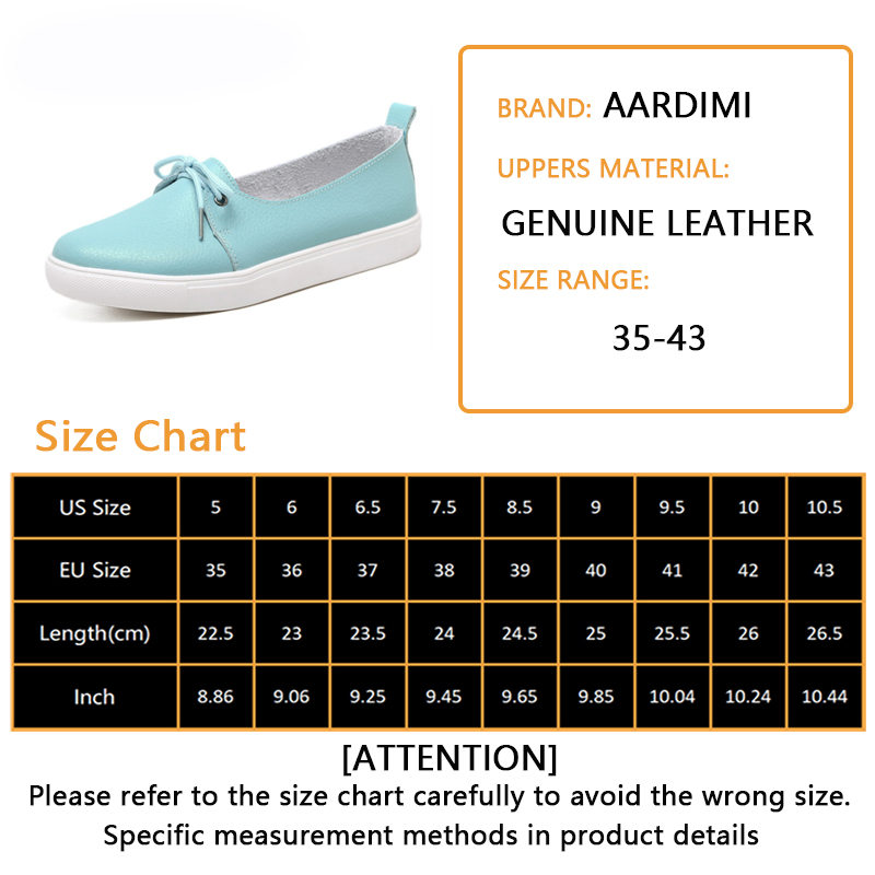 AARDIMI Plus Size 35-43 Women Shoes Genuine Leather Women Ballet Flats Nurse Shoes Moccasins Causal Shoes Cowhide Woman Loafers Pakistan