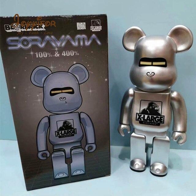 42 pçs estilos 28 cm bearbricklys figuras de ação dos desenhos animados blocos urso bonecas pvc rua arte collectible modelos brinquedos para amigos presentes
