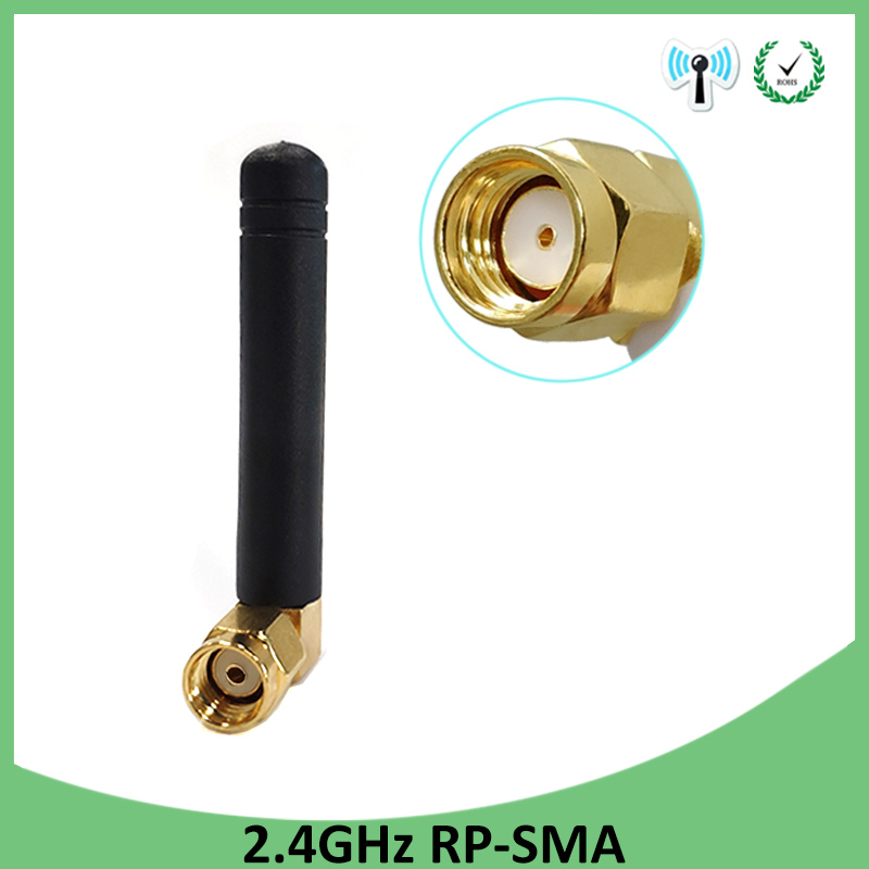 BULK 24 PACK RP-SMA 2.4 Ghz 3 dBi Whip SMA Male Connector
