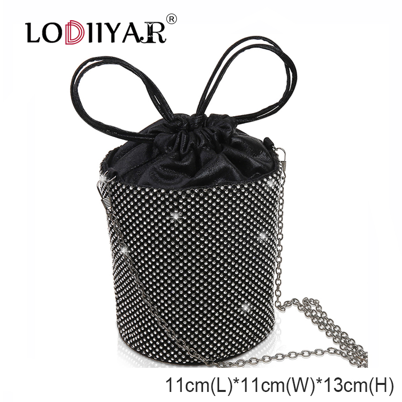 Women Diamonds Bag Rhinestone Shoulder Bags Ladies Purse Handbags Clutch Evening/Party/Wedding Bags Black Birthday Gift Women