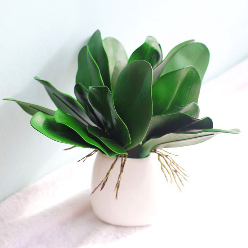 1pcs artificial flowers real touch phalaenopsis leaf plant decorative auxiliary material decoration Orchid leave