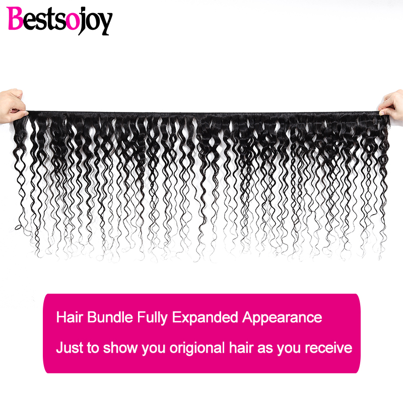[Bestsojoy] Loose Deep Bundles With 13x4 Lace Frontal M Remy Human Hair 3 Bundles With Ear To Ear Lace Frontal Brazilian Hair