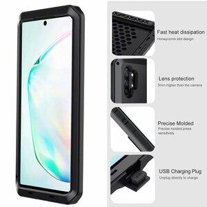Image 5 - Funda de Metal a prueba de golpes para Samsung Galaxy S7 Edge S8 S9 S10 Plus S10e Note 10 9 8, funda protectora completa + película