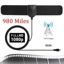 1080p alto ganho 20 dbi 980 milhas de alcance hdtv antena interna da tevê DVB-T2 amplificador digital antena interna-antena